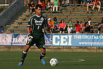 23 June 2012: Edmonton's Lance Parker. The Carolina RailHawks defeated FC Edmonton 2-0 at WakeMed Soccer Stadium in Cary, NC in a 2012 North American Soccer League (NASL) regular season game.