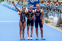 Tylor Spivey of United States of America, Georgia Tylor-Brown of Great Britain, Chelsea Burns of United States of America  during the 2017 Madrid ITU Triathlon World Cup in Madrid, May 28, 2017. Spain.. (ALTERPHOTOS/Rodrigo Jimenez) /NortePhoto.com