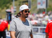 Jun 18, 2017; Bristol, TN, USA; Qatar prince Sheikh Khalid Bin Hamad Al Thani in attendance of the NHRA Thunder Valley Nationals at Bristol Dragway. Mandatory Credit: Mark J. Rebilas-USA TODAY Sports