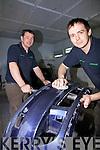 Alan & Sean Egan putting the finishing touches to this bumper before spraying...