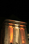 Israel, Jerusalem, LLight in Jerusalem festival, the tomb of Zecharia in Kidron valley