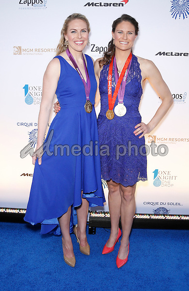 18 March 2016 - Las Vegas, Nevada - Esther Lofgren, Susan Francia. Cirque Du Soleil presents star-studded blue carpet at Fourth Annual One Night for ONE DROP at the Cleveland Clinic Lou Ruvo Center for Brain Health. Photo Credit: MJT/AdMedia