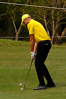 Justin Warren (AUS) chipping onto the 3rd green during round 2 of the Australian PGA Championship at  RACV Royal Pines Resort, Gold Coast, Queensland, Australia. 20/12/2019.<br /> Picture TJ Caffrey / Golffile.ie<br /> <br /> All photo usage must carry mandatory copyright credit (© Golffile | TJ Caffrey)