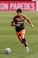 12th July 2020; Estadio Municipal de Butarque, Madrid, Spain; La Liga Football, Club Deportivo Leganes versus Valencia; Goncalo Guedes (Valencia CF) drives forward on the ball