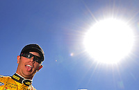 Apr 17, 2009; Avondale, AZ, USA; NASCAR Nationwide Series driver Brian Scott during qualifying prior to the Bashas Supermarkets 200 at Phoenix International Raceway. Mandatory Credit: Mark J. Rebilas-