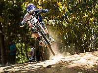 Picture by Alex Broadway/SWpix.com - 08/09/17 - Cycling - UCI 2017 Mountain Bike World Championships - Downhill - Cairns, Australia - Greg Williamson of Great Britain in action during a practice session.