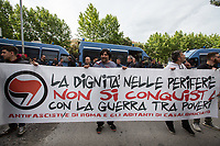 08.05.2019 - Casapound (far-right) Rally - Antifascist and Housing Groups Protest in Casal Bruciato