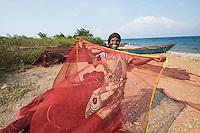 Fishing woman Lake Tanganyika