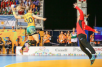 TORONTO, CANADA, 24.07.2015 - PAN-HANDBALL - Jessica do Brasil durante partida contra Argentina na final do Handball Feminino no Centro de Exposições de Toronto nesta sexta-feira, 24. (Foto: William Volcov/Brazil Photo Press)