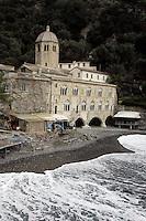 Veduta dell'Abbazia di San Fruttuoso nei pressi di Camogli.<br /> View of the Abbey of San Fruttuoso, near Camogli.<br /> UPDATE IMAGES PRESS/Riccardo De Luca