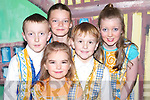 CHORUS: Children who sang in the chorus of Jack and The Beanstalk which was presented by the Oliver Hurley Production at Siamsa Ti?re, Tralee on Thursday night were: Clodagh Foley, Cormac Hurley, Shauna O'Sullivan, Darragh Hurley and Jane Gleeson.   Copyright Kerry's Eye 2008