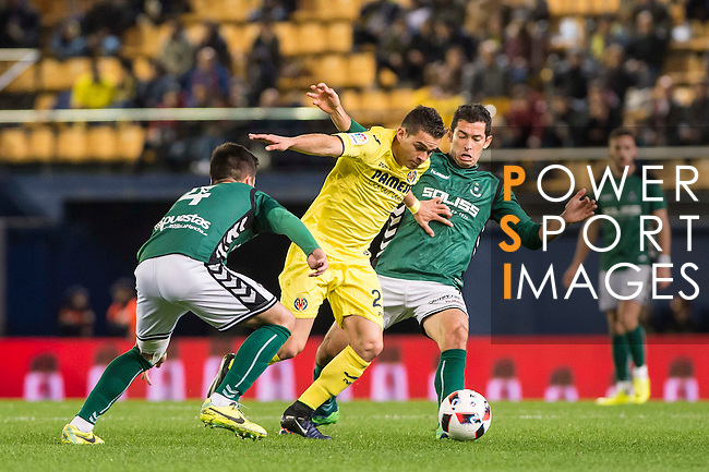 Rafael Santos Borré (c) of Villarreal CF in action during their Copa del Rey 2016-17 match between Villarreal CF and CD Toledo at the Estadio El Madrigal on 20 December 2016 in Villarreal, Spain. Photo by Maria Jose Segovia Carmona / Power Sport Images