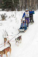Michael Salvisberg w/Iditarider on Trail 2005 Iditarod Ceremonial Start near Campbell Airstrip Alaska SC
