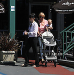 .April 2nd 2012   Exclusive ..Selma Blair shopping at Whole Foods in Los Angeles with her mom & baby Arthur.  Selma lifted up the big stroller all by herself ...AbilityFilms@yahoo.com.805-427-3519.www.AbilityFilms.com.