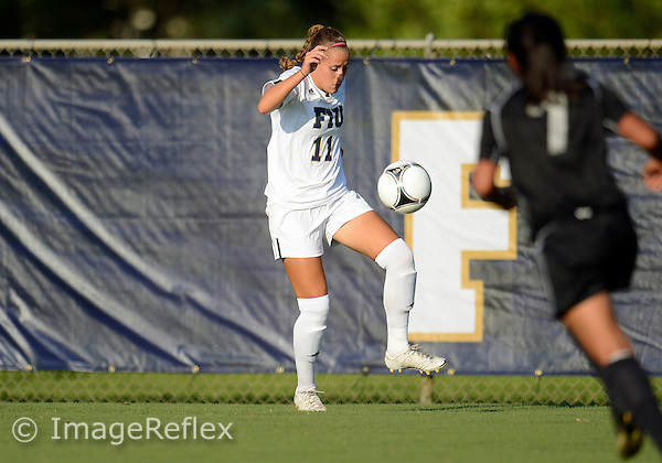 Florida International University women's soccer forward Caroline Hernandez (11) plays against the University of Idaho on September 9, 2012 at Miami, Florida. FIU won the game 6-0. .