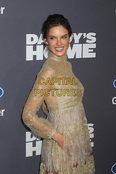 NEW YORK, NY - DECEMBER 13:  Alessandra Ambrosio at the New York premiere of 'Daddy's Home' in New York, New York on December 13, 2015. <br /> CAP/MPI/RMP<br /> &copy;RMP/MPI/Capital Pictures