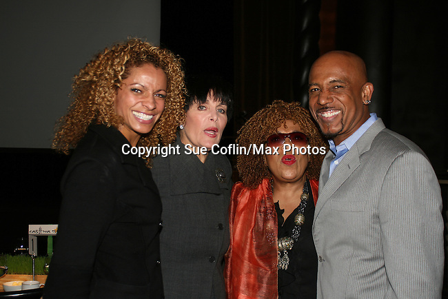 "Michele Hurd - Linda Dano (both were on Another World & Linda on ABC soaps) - Roberta Flack (sang on OLTL)- Montel Williams is host of this event and ""Clayton Boudreau"" and on AMC pose at the First Annual StarPet 2008 Awards Luncheon as dogs and cats compete for a career in showbusiness on November 10, 2008 at the Edison Ballroom, New York, New York. The event benefitted Bideawee and NY SAVE. Michelle and Roberta are judges today. (Photo by Sue Coflin/Max Photos)"