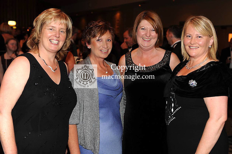 Mairead Sheahan, Mary Lynch, Marie Sweetman and Ann Mangan at the Kerry  Stars Black Tie Ball  in The Malton Hotel, Killarney  on Saturday night. Picture: Eamonn Keogh ( MacMonagle, Killarney)