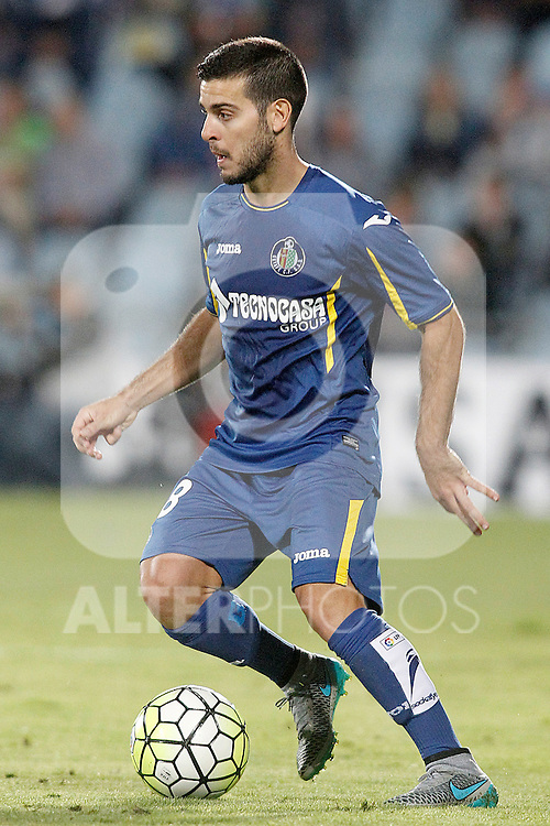Getafe's Victor Rodriguez during La Liga match.September 18,2015. (ALTERPHOTOS/Acero)