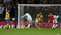 Tottenham Hotspur's Son Heung-Min goes close late in the game<br /> <br /> Photographer Rob Newell/CameraSport<br /> <br /> UEFA Champions League Round of 16 Second Leg - Tottenham Hotspur v Juventus - Wednesday 7th March 2018 - Wembley Stadium - London <br />  <br /> World Copyright &copy; 2017 CameraSport. All rights reserved. 43 Linden Ave. Countesthorpe. Leicester. England. LE8 5PG - Tel: +44 (0) 116 277 4147 - admin@camerasport.com - www.camerasport.com