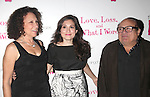 "Rhea Perlman, Lucy Devito & Danny Devito.attending the Opening Night After Party at Marseille Restaurant for ""Love, Loss and What I Wore""  as OffBroadway's Biggest Hit welcomes it's newest cast members..November 18, 2009."