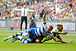 Chris Gunter of Reading challenges Rajiv van La Parra of Huddersfield Townduring the SkyBet Championship Play Off Final match at the Wembley Stadium, England. Picture date: May 29th, 2017.Picture credit should read: Matt McNulty/Sportimage