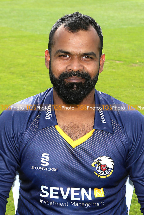 Ashar Zaidi of Essex in NatWest T20 Blast kit during the Essex CCC Press Day at The Cloudfm County Ground on 5th April 2017