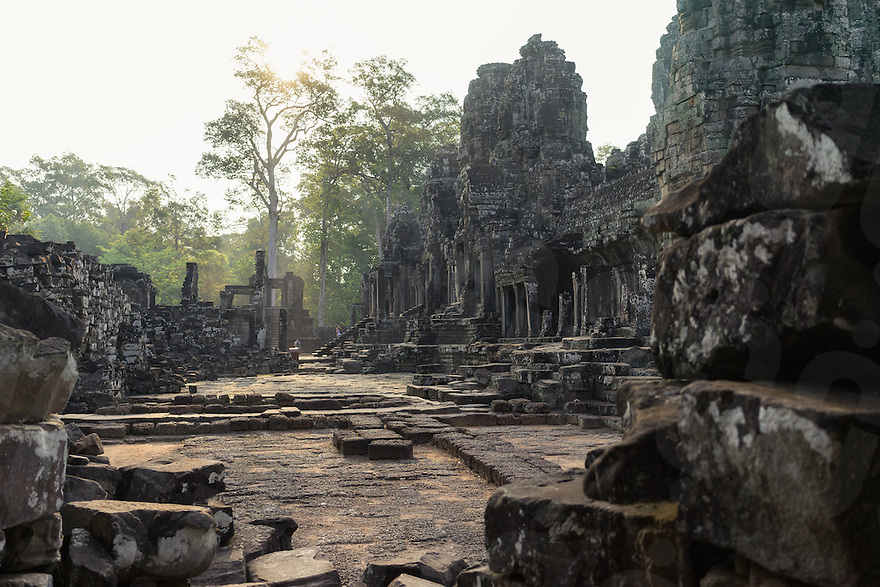 March 31, 2014 - Siem Reap. Visiting Bayon Temple. © Thomas Cristofoletti / Ruom for Tiger Airways Magazine