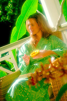 Woman With Papaya for Breakfast
