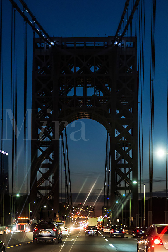 George Washington Bridge at night, New York, NY, USA