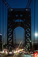 George Washington Bridge at night, New York, NY, USA