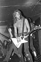 Metallica performs as &quot; The Four Horsemen &quot; at Ruthies Inn in Berkley, California. 8/24/85 <br /> CAP/MPI/GA<br /> &copy;GA/MPI/Capital Pictures