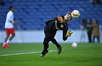 27th February 2020; Dragao Stadium, Porto, Portugal; UEFA Europa League  FC Porto versus Bayer Leverkusen; Lukas Hradecky of Bayer Leverkusen during warm up