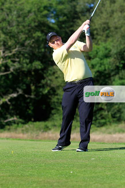 Sean Cummins (Westmanstown) on the 8th tee during Round 2 of the Ulster Boys' Amateur Open Championship in Clandeboye Golf Club on Wednesday 9th July 2014.<br /> Picture:  Thos Caffrey / www.golffile.ie