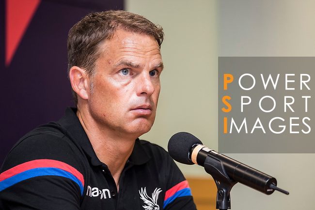 Crystal Palace manager Frank de Boer speaks at the press conference after the Premier League Asia Trophy match between Liverpool FC and Crystal Palace FC at Hong Kong Stadium on 19 July 2017, in Hong Kong, China. Photo by Yu Chun Christopher Wong / Power Sport Images