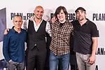 "Javier Gutierrez, Alain Hernandez, Inaki Dorronsoro and Luis Tosar attends the photocall of the film ""Plan de Fuga"" in Madrid, Spain. April 25, 2017. (ALTERPHOTOS/Rodrigo Jimenez)"