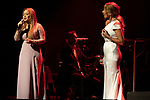 Singers Karina Prince (L) and Marta Sanchez during concert of Festival Unicos. September 23, 2019. (ALTERPHOTOS/Johana Hernandez)
