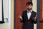 """Pratik Shriwas, a Doctoral Student studying Biological Sciences in the College of Arts and Sciences presents his thesis entitled """"Glucose-uptake inhibition: A novel way to starve cancer to death""""."""