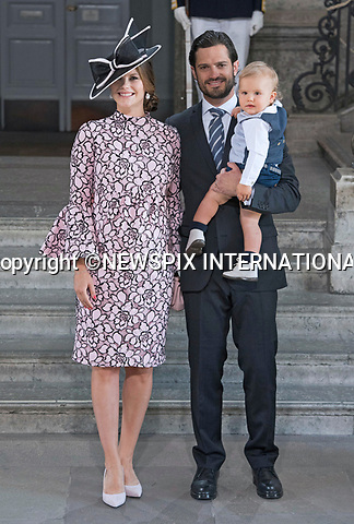 14.07.2017; Stockholm Sweden: PRINCE CARL PHILIP, PRINCESS SOFIA AND PRINS ALEXANDER<br /> attend the church service to celebrate Crown Princess Victoria&rsquo;s 40th Birthday at the Royal Chapel in Stockholm<br /> Mandatory Photo Credit: &copy;Francis Dias/NEWSPIX INTERNATIONAL<br /> <br /> IMMEDIATE CONFIRMATION OF USAGE REQUIRED:<br /> Newspix International, 31 Chinnery Hill, Bishop's Stortford, ENGLAND CM23 3PS<br /> Tel:+441279 324672  ; Fax: +441279656877<br /> Mobile:  07775681153<br /> e-mail: info@newspixinternational.co.uk<br /> Usage Implies Acceptance of Our Terms &amp; Conditions<br /> Please refer to usage terms. All Fees Payable To Newspix International