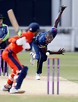 Carlos Braithwaite bowls Kent during the T20 friendly between Kent and the Netherlands at the St Lawrence Ground, Canterbury, on July 3, 2018