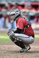 Arizona Diamondbacks catcher B.J. Lopez (3) during an Instructional League game against the Oakland Athletics on October 10, 2014 at Chase Field in Phoenix, Arizona.  (Mike Janes/Four Seam Images)