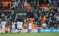 Sam Saunders of Wycombe Wanderers celebrates his goal during the Sky Bet League 2 match between Barnet and Wycombe Wanderers at The Hive, London, England on 17 April 2017. Photo by Andy Rowland.