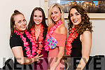 Lauren Garczynski,  who celebrated her 24th birthday with friends at Bella Bia restaurant, Tralee on Saturday night were l-r: Liz Leen, Sarah O'Shea, Lauren Garczynski (birthday girl) and Kellie O'Brien.