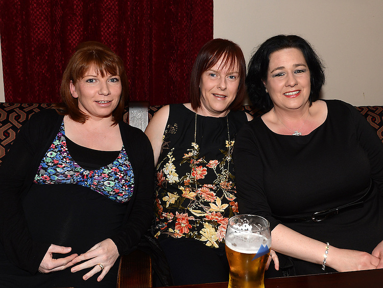 Joanne and Maura McShane and Maura McDonagh pictured at Roisin Stokes's homecoming party at the Hunterstown Inn. Photo:Colin Bell/pressphotos.ie