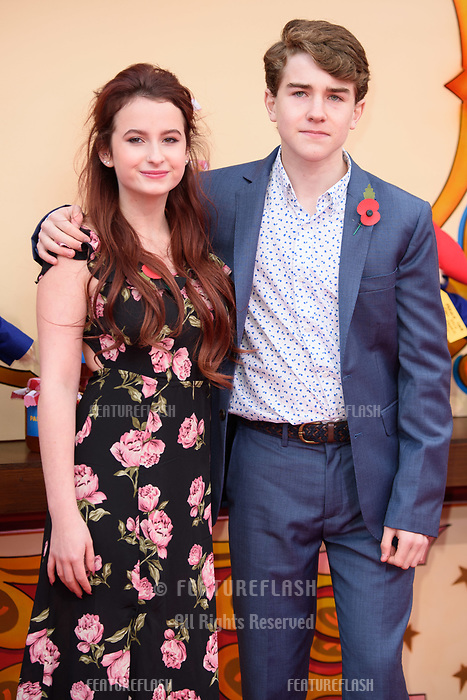 Madeleine Harris and Samuel Joslin at the &quot;Paddington 2&quot; premiere at the NFT South Bank, London, UK. <br /> 05 November  2017<br /> Picture: Steve Vas/Featureflash/SilverHub 0208 004 5359 sales@silverhubmedia.com