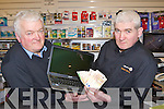 Joe and Mike Walsh who caught two men trying to scam them when the men were supposing ably purchasing a laptop in the electrical store in Castleisland last week