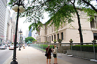Art Institute on Michigan Avenue.  Chicago Illinois USA