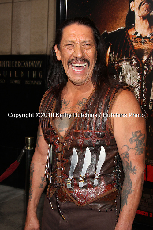 "LOS ANGELES - AUG 25:  Danny Trejo arrives at the ""Machette""  Premiere at Orpheum Theater on August 25, 2010 in Los Angeles, CA"
