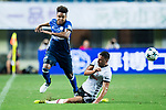 Weston McKennie (L) trips up with Besiktas Istambul Defender Dusko Tosic (R) during the Friendly Football Matches Summer 2017 between FC Schalke 04 Vs Besiktas Istanbul at Zhuhai Sport Center Stadium on July 19, 2017 in Zhuhai, China. Photo by Marcio Rodrigo Machado / Power Sport Images