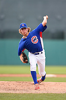 Ty Holton (18) of Lincoln High School in Tallahassee, Florida playing for the Chicago Cubs scout team during the East Coast Pro Showcase on August 2, 2014 at NBT Bank Stadium in Syracuse, New York.  (Mike Janes/Four Seam Images)